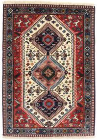 Yalameh Tapis 98X141 D'orient Fait Main Rouge Foncé/Bleu Foncé (Laine, Perse/Iran)