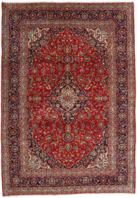 Kashan Tapis 246X353 D'orient Fait Main Rouge Foncé/Marron Foncé (Laine, Perse/Iran)