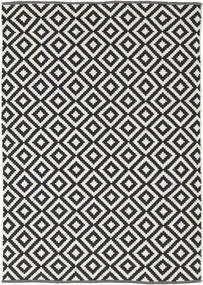 Torun - Noir/Neutral Tapis 140X200 Moderne Tissé À La Main Noir/Gris Clair (Coton, Inde)