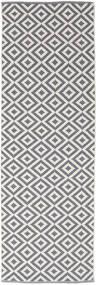 Torun - Gris/Neutral Tapis 80X300 Moderne Tissé À La Main Tapis Couloir Gris Clair/Violet Clair (Coton, Inde)