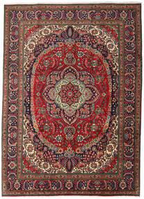 Tabriz Tapis 247X344 D'orient Fait Main Marron Foncé/Rouge Foncé (Laine, Perse/Iran)