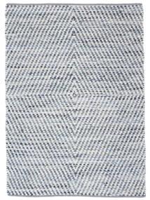 Hilda - Denim/Blanc Tapis 170X240 Moderne Tissé À La Main Beige/Bleu Clair (Coton, Inde)