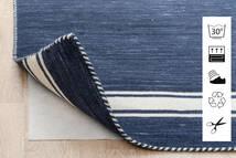 Anti Slip, Non-Woven Tapis 80X300 Moderne Tapis Couloir Bleu/Gris Clair ( Belgique)