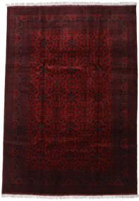 Afghan Khal Mohammadi Tapis 206X293 D'orient Fait Main Rouge Foncé (Laine, Afghanistan)