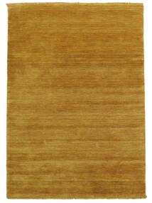 Handloom Fringes - Jaune Tapis 140X200 Moderne Marron Clair/Jaune (Laine, Inde)