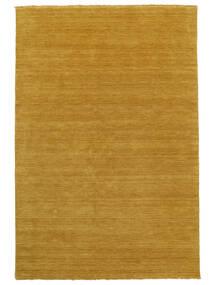 Handloom Fringes - Jaune Tapis 100X160 Moderne Marron Clair/Jaune (Laine, Inde)