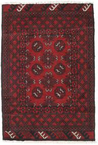 Afghan Tapis 78X115 D'orient Fait Main Rouge Foncé/Noir (Laine, Afghanistan)