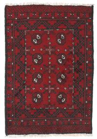 Afghan Tapis 76X112 D'orient Fait Main Rouge Foncé/Noir (Laine, Afghanistan)