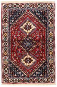 Yalameh Tapis 103X151 D'orient Fait Main Rouge Foncé/Noir (Laine, Perse/Iran)