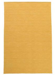 Kilim Loom - Jaune Tapis 140X200 Moderne Tissé À La Main Marron Clair/Jaune (Laine, Inde)