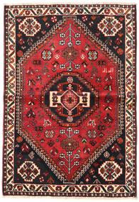 Shiraz Tapis 106X154 D'orient Fait Main Noir/Rouge Foncé (Laine, Perse/Iran)