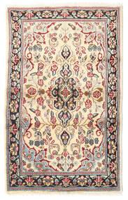 Kerman Tapis 88X140 D'orient Fait Main Marron Clair/Beige (Laine, Perse/Iran)