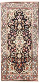 Kerman Tapis 95X190 D'orient Fait Main Marron Clair/Beige (Laine, Perse/Iran)