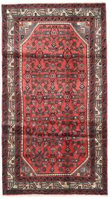 Hosseinabad Tapis 103X190 D'orient Fait Main Rouge Foncé/Rouille/Rouge (Laine, Perse/Iran)