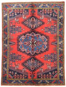 Wiss Tapis 157X210 D'orient Fait Main Violet Foncé/Rouge (Laine, Perse/Iran)
