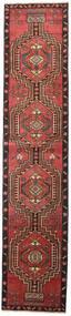 Ardabil Patina Tapis 81X385 D'orient Fait Main Tapis Couloir Rouge Foncé/Noir (Laine, Perse/Iran)