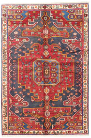 Bakhtiar Tapis 135X205 D'orient Fait Main Rouge Foncé/Rouille/Rouge (Laine, Perse/Iran)