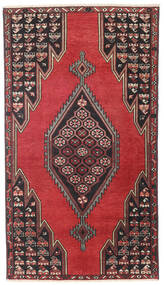 Saveh Patina Tapis 98X176 D'orient Fait Main Noir/Rouge Foncé (Laine, Perse/Iran)