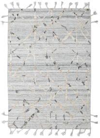 Pet Yarn Kilim Tapis 162X238 Moderne Tissé À La Main Gris Clair/Beige ( Inde)