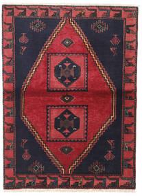 Kelardasht Tapis 105X140 D'orient Fait Main Noir/Rouge (Laine, Perse/Iran)