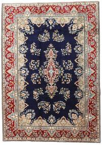 Kerman Tapis 190X270 D'orient Fait Main Violet Foncé/Marron Clair (Laine, Perse/Iran)