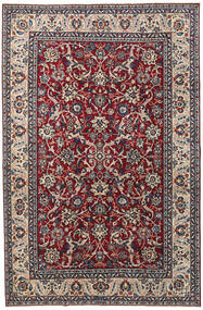 Yazd Patina Tapis 200X304 D'orient Fait Main Violet Foncé/Gris Clair (Laine, Perse/Iran)