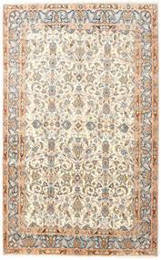 Kerman Tapis 145X240 D'orient Fait Main Beige/Blanc/Crème (Laine, Perse/Iran)
