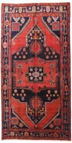 Hamadan Tapis 160X313 D'orient Fait Main Tapis Couloir Rouge Foncé/Noir (Laine, Perse/Iran)
