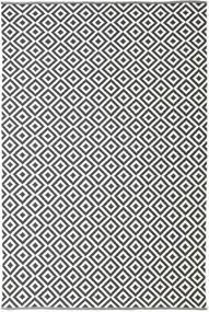 Torun - Noir/Neutral Tapis 200X300 Moderne Tissé À La Main Gris Foncé/Beige (Coton, Inde)