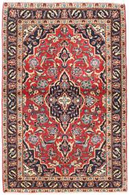 Kashan Patina Tapis 98X150 D'orient Fait Main Gris Foncé/Rouge Foncé (Laine, Perse/Iran)