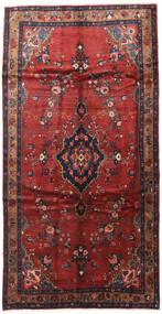 Hamadan Tapis 165X300 D'orient Fait Main Tapis Couloir Rouge Foncé/Bleu Foncé (Laine, Perse/Iran)