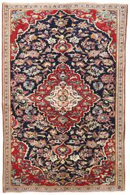 Yazd Tapis 145X220 D'orient Fait Main Violet Foncé/Rouge Foncé (Laine, Perse/Iran)