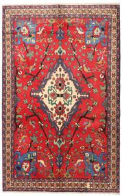 Nahavand Tapis 160X253 D'orient Fait Main Rouge/Rouge Foncé (Laine, Perse/Iran)