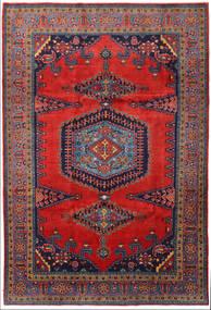 Wiss Tapis 219X328 D'orient Fait Main Rouge Foncé/Noir/Rouille/Rouge (Laine, Perse/Iran)