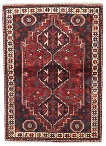Shiraz Tapis 113X154 D'orient Fait Main Rouge Foncé/Bleu Foncé (Laine, Perse/Iran)