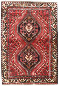 Shiraz Tapis 111X160 D'orient Fait Main Marron Foncé/Rouille/Rouge (Laine, Perse/Iran)
