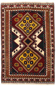 Ghashghaï Tapis 127X190 D'orient Fait Main Rouge Foncé (Laine, Perse/Iran)