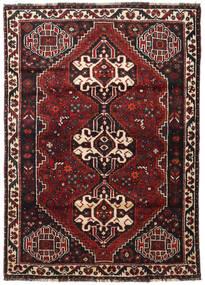 Shiraz Tapis 117X166 D'orient Fait Main Rouge Foncé/Noir (Laine, Perse/Iran)