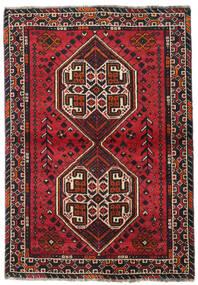Shiraz Tapis 107X155 D'orient Fait Main Noir/Rouge Foncé (Laine, Perse/Iran)