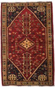 Ghashghaï Tapis 108X169 D'orient Fait Main Marron Foncé/Rouge Foncé (Laine, Perse/Iran)