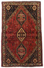 Ghashghaï Tapis 105X173 D'orient Fait Main Marron Foncé/Rouge Foncé (Laine, Perse/Iran)