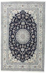 Naïn Tapis 200X308 D'orient Fait Main Gris Foncé/Gris Clair (Laine, Perse/Iran)