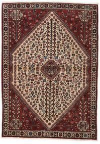 Abadeh Tapis 110X150 D'orient Fait Main Rouge Foncé/Marron Clair (Laine, Perse/Iran)