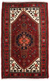 Hamadan Tapis 85X135 D'orient Fait Main Rouge Foncé/Marron Foncé (Laine, Perse/Iran)