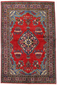 Wiss Tapis 160X240 D'orient Fait Main Gris Foncé/Rouge Foncé (Laine, Perse/Iran)