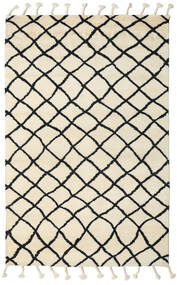 Atlas Berber Tapis 180X275 Moderne Fait Main Beige/Noir (Laine, Inde)