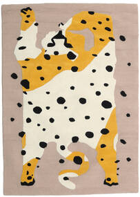 The Spotty Cat - Beige/Multi Tapis 160X230 Moderne Beige/Marron Clair (Laine, Inde)