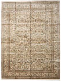 Cachemire Pure Soie Tapis 306X403 D'orient Fait Main Gris Clair/Beige Grand (Soie, Inde)