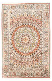 Cachemire Pure Soie Tapis 80X124 D'orient Fait Main Beige/Gris Clair (Soie, Inde)