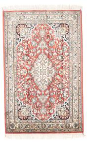 Cachemire Pure Soie Tapis 63X93 D'orient Fait Main Beige/Gris Clair (Soie, Inde)